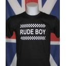 t-shirt Rude boy damier