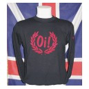 Sweat-shirt Oi lauriers , Noir / rouge