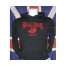 Sweat capuche Bulldog force  noir/rouge