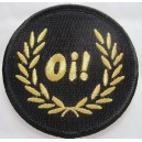 Patch Oi lauriers noir et or