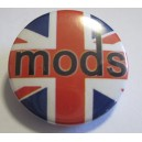 Badge lettrage Mods sur union jack
