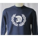 Sweat-shirt Trojan lauriers Marine