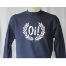 Sweat-shirt Oi lauriers . marine