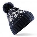 Retro bobble hat. Navy and white