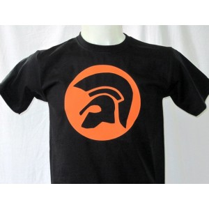 T-shirt Casque Trojan  Noir orange