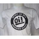 T-shirt OI Spirit of 80s working class . gris noir