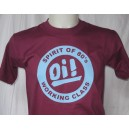 T-shirt OI Spirit of 80s working class . bordeaux bleu ciel