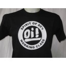 T-shirt OI Spirit of 80s working class . Noir blanc
