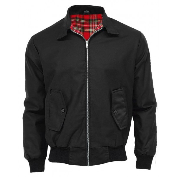 Harrington jacket j b for Veste interieur ecossais