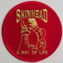 Patch  Skinhead a way of life- boots- red and gold