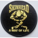 Patch  Skinhead a way of life. Black and gold
