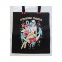 Bag has hand white Red Roses and small Skulls model