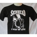 T-shirt Skinhead A way of life. boots. Noir blanc