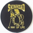 Patch  Skinhead a way of life- boots- black and gold
