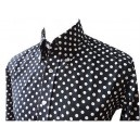 Relco polka dot shirt . Black and white, long sleeves