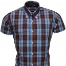 chemise vintage Relco R20 marine+bleu clair +rouge            +rouge