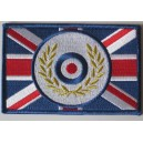 Patch cocarde mod target et lauriers sur union jack