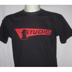 T-shirt Studio One Records  Noir rouge