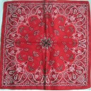 Aces and swords red bandana