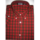 Relco vintage style shirt. Tartan red + black
