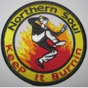 Patch Northern Soul - keep it burnin