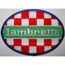 Lambretta patch - checkerboard Italian colors.