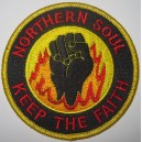 Patch Northern Soul - keep the faith- flammes