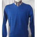 Pull Col V  Moonstomp Clothing. Bleu Royal