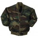 MA-1 bomber flight jacket . Woodland camouflage