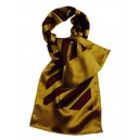 Stripes scarf.  Gold with red  and blue stripes