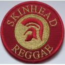 Patch Skinhead Reggae rouge et or