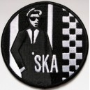 Ska patch rudeboy- black and white