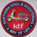 Northern Soul & Scootering patch