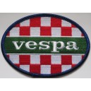 Vespa patch - checkerboard Italian colors.