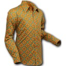 "Chenaski mod, retro 60/70 style shirt, ""Dotsgrid"". long sleeves. C114"