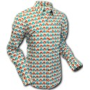"Chenaski mod, retro 60/70 style shirt, ""Eyeball"". long sleeves. C153"