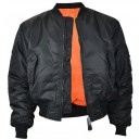 MA-1 bomber flight jacket . black