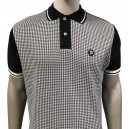 Trojan Records poloshirt. Black and houndstooth