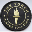 The Torch classic soul club patch .black and gold