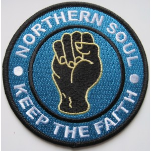 Patch Northern Soul. Keep the faith- poing- bleu