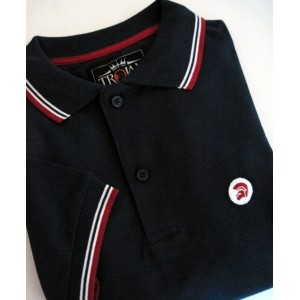 Polo Trojan Records. Marine blanc rouge