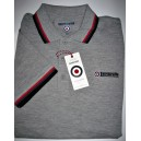 Lambretta clothing poloshirt. Grey red dark grey black
