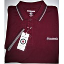 Lambretta clothing poloshirt. Burgundy navy grey
