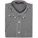shirt vintage gingham 3mm black and white