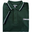 Lambretta clothing poloshirt. Green twin tipped polo pique. Green,white,navy