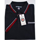 Polo Lambretta clothing. Marine bandes blanche et rouge