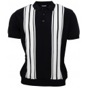 Relco London knitted poloshirt. Navy white