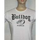 T-shirt woman Bulldog force white black