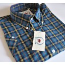 Relco vintage style shirt. CK41. Blue + yellow + red