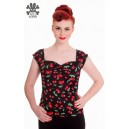 "Top ""Cerises"" pin up, rockabilly, retro,vintage par Hell Bunny"